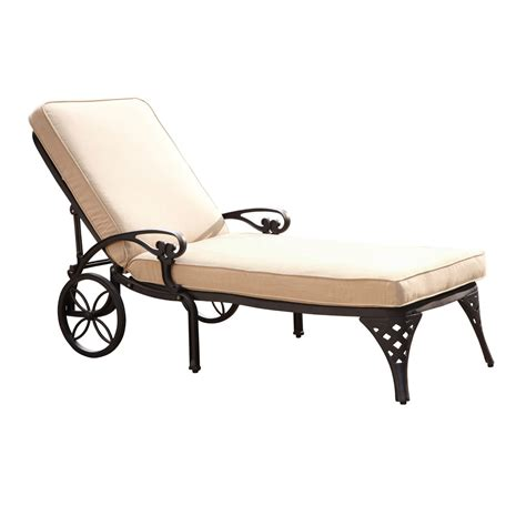 Black Chaise Lounge Biscayne Black Chaise Lounge Chair With Taupe Cushion Home Styles Furniture Chaises