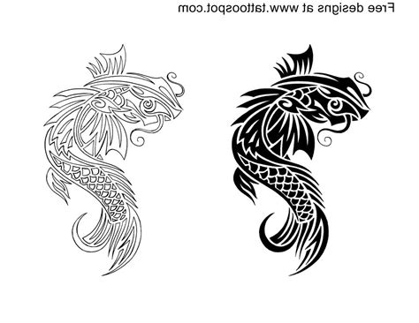 koi fish tribal tattoo tribal koi fish designs koi tribal tattoos designs