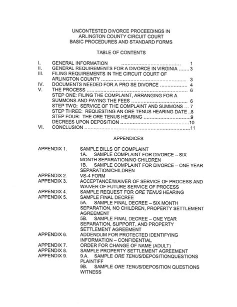 va separation agreement template virginia separation agreement template for free