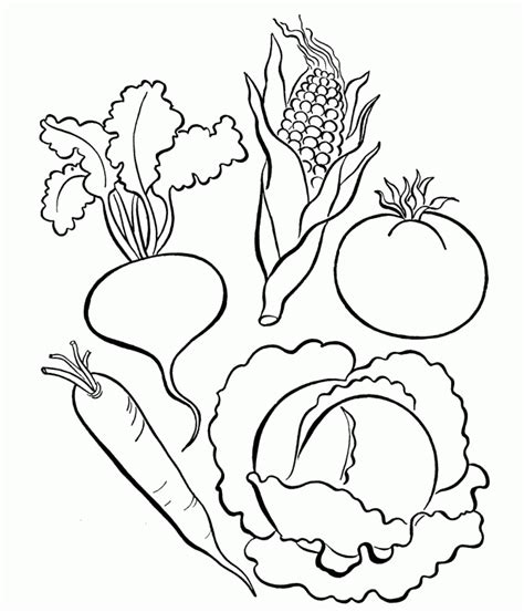 coloring pages for adults vegetables pictures of vegetables to color coloring home
