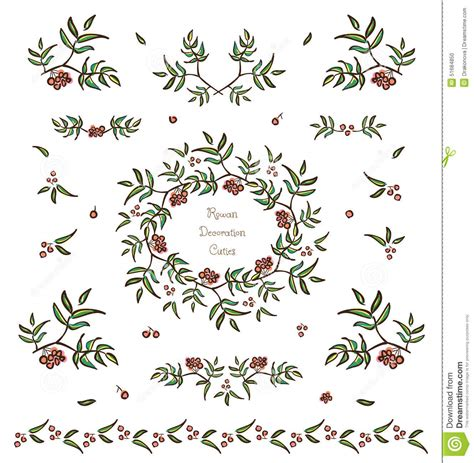 vine leaves literary journal a collection of vignettes from across the globe books vector plant decorative elements and vignettes stock