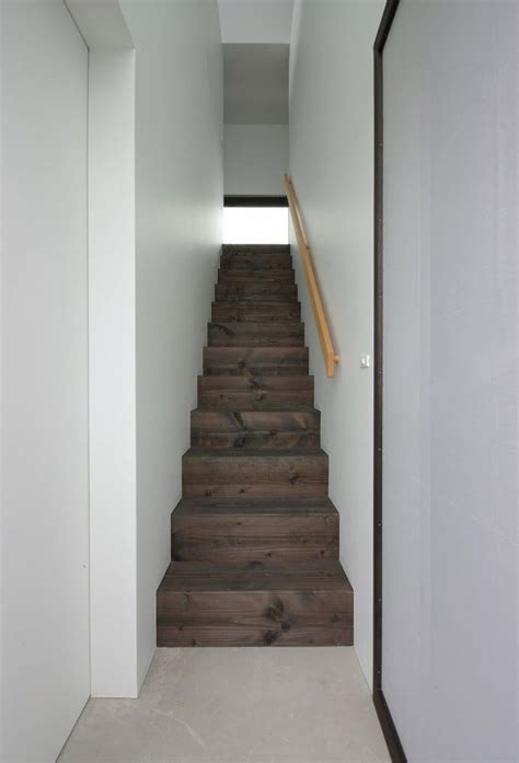 Simple wooden enclosed staircase   Staircase   Pinterest