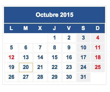 Calendario De Octubre 2015 Calendario Fiscal Octubre 2015 Rankia