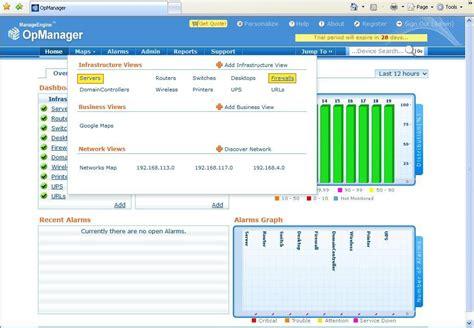 opmanager firewall analyzer integration firewall analyzer
