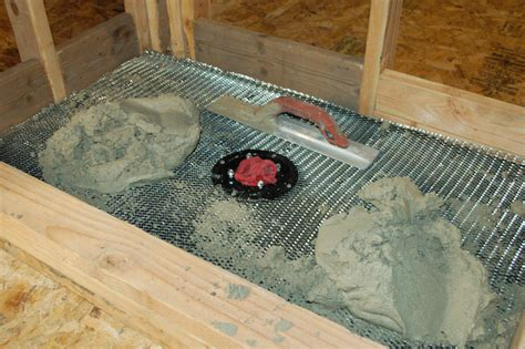Shower Pan Mud Mix by How To Build A Tile Shower Pan Icreatables