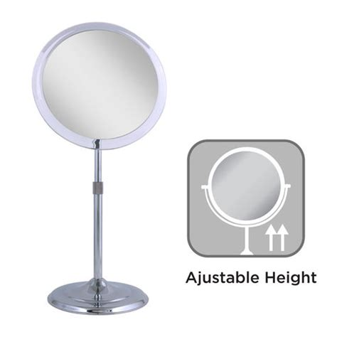 adjustable height vanity 5x telescoping adjustable height pedestal vanity mirror
