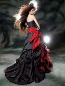 Red and Black Gothic Wedding Dress   Devilnight.co.uk