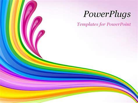 best powerpoint template floral art design decor blue