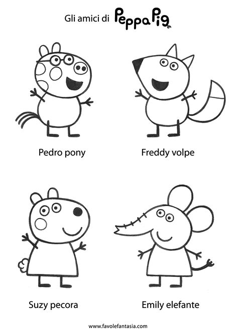peppa pig and friends coloring pages free coloring pages of rebecca peppa pig