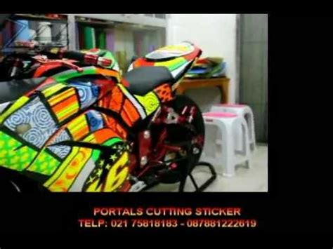 cutting sticker ninja 250r cutting sticker ninja 250 valentino rossi edition youtube