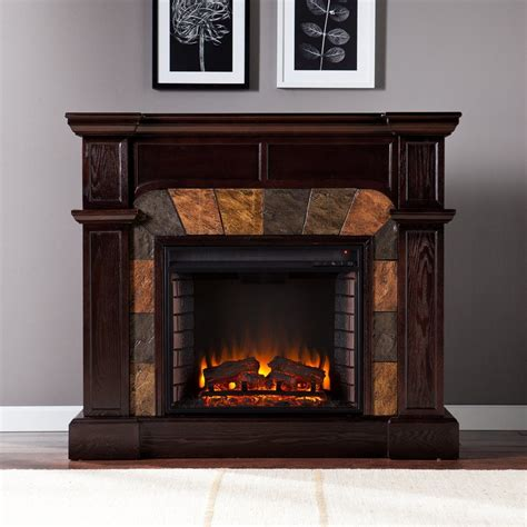 Boston Fireplace by Shop Boston Loft Furnishings 45 5 In W 4700 Btu Espresso