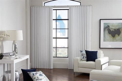 Vertical Blinds For Living Room Window by White Vertical Blinds Lafayette Sheervisions White