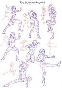 How to draw fighting poses step 3