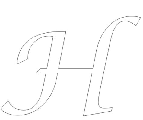 large printable letter h big free coloring pages