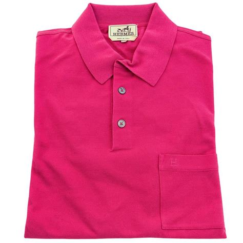 7516 T Shirt Hermes Jumbo hermes indian s polo sleeve pink cotton large at 1stdibs