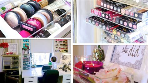 desk makeup tour organization ideas