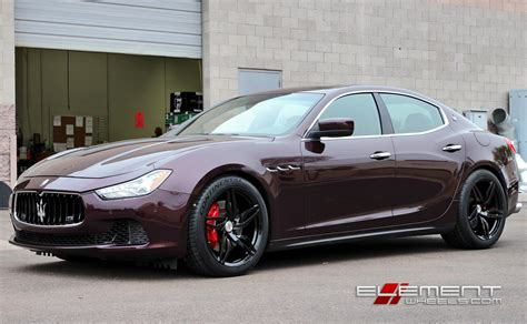 2014 Maserati Ghibli Sq4 by 20 Inch Staggered Amf 201 Wheels Gloss Black On 2014