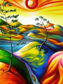 cool paintings art cool painting rainbow sun image 359990 on favim com
