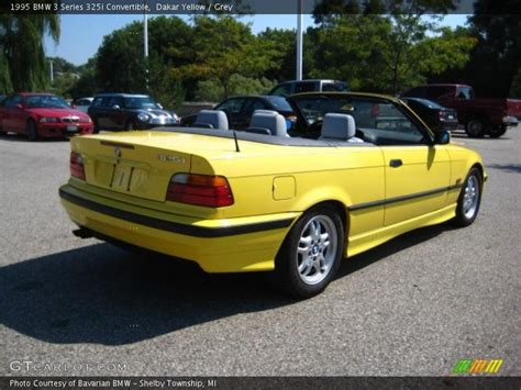 1995 Bmw 325i Convertible by 1995 Bmw 3 Series 325i Convertible In Dakar Yellow Photo
