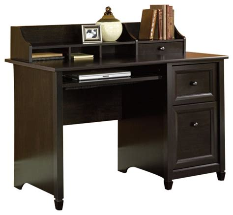 Sauder Edge Water Computer Desk In Estate Black Cymax Computer Desk