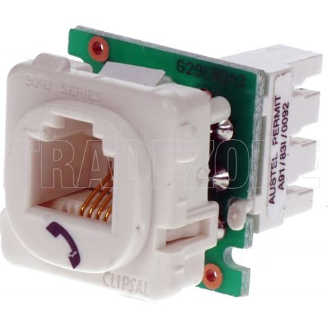 clipsal rj11 phone mech white each electrical supplies