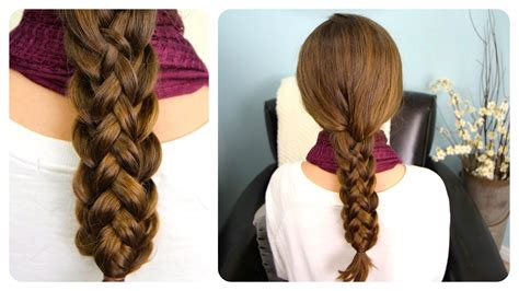 easy plaits to do yourself stacked braids cute girls hairstyles youtube