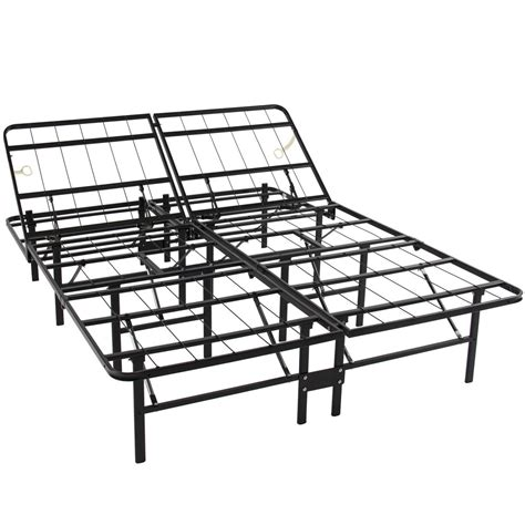 Adustable Platform Metal Bed Frame No Box Spring Mattress Platform Metal Bed Frame Mattress Foundation