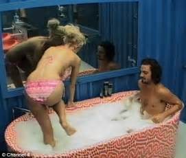 sister brother bathroom sophie and kris share an intimate bubble bath in the big