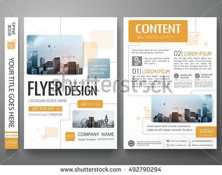 magazine layout presentation brochure design template vector flyers report stock vector