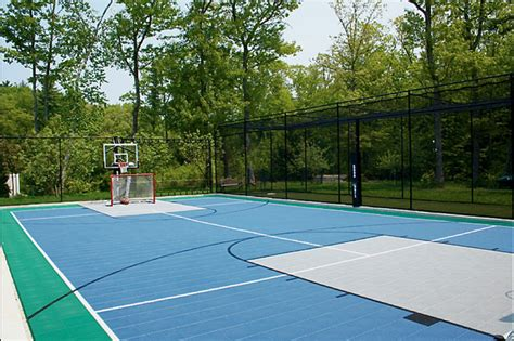 residential sport backyard court traditional