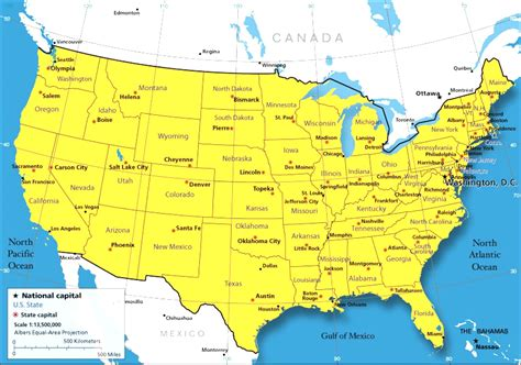 northern usa map map of northern united states and canada map usa