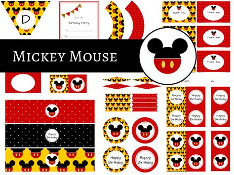 theme line mickey mouse free mickey mouse party package magical printable