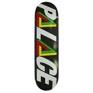 palace deck palace tri logo rasta skateboard deck 8 3 inch uk