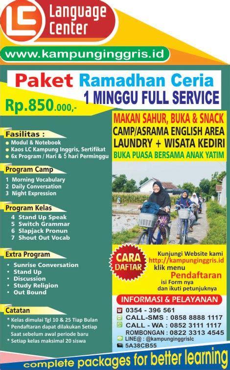 Paket Ramadhan 1 paket ramadhan kung inggris 1 minggu