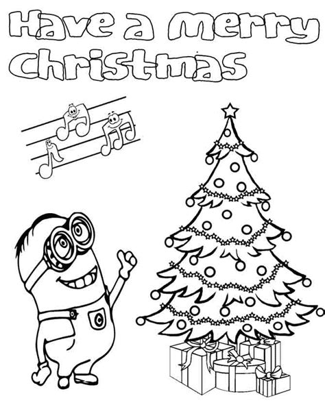 free coloring pages of christmas minions