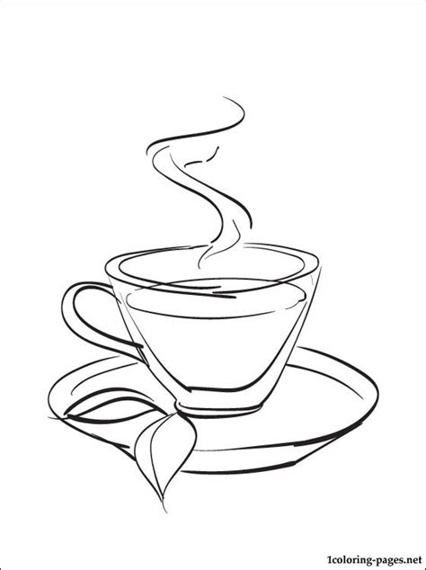Tea Coloring Pages tea coloring page coloring pages