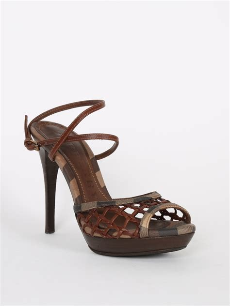 burberry sandals burberry smoked check brown woven sandals 37 luxury bags