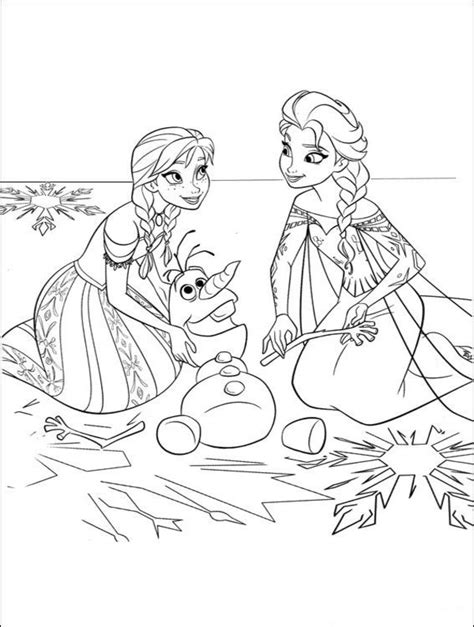 coloring pages frozen to print frozen and elsa coloring pages