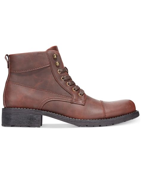 mens alfani boots alfani s dean utility boots in brown for save 26