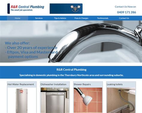 R R Plumbing by R And R Central Plumbing Aaa Web Design