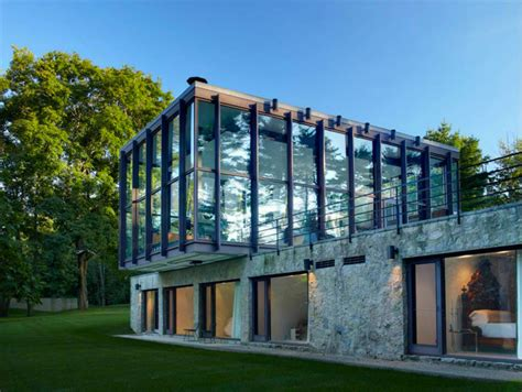 stone and glass house designs philip johnson s wiley house hits the market for 12 million inhabitat green design