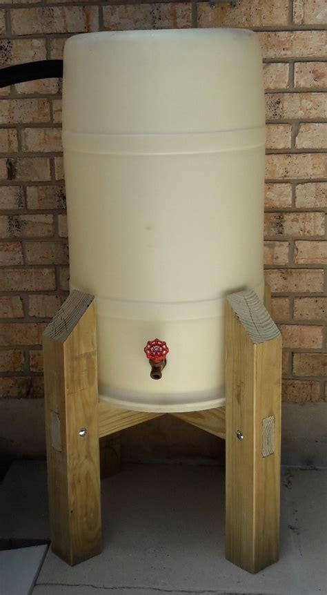 water barrel stand water barrel rainwater harvesting