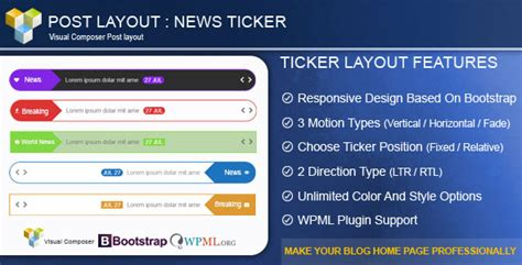 post layout in wordpress codecanyon post layout v2 5 news ticker for visual