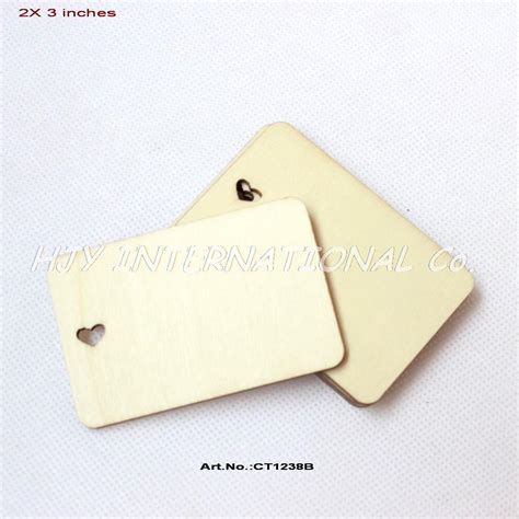 Gift Card Supplies - 40pcs lot 50mm x 76mm unfinished plain wood name cards greeting cards supplies