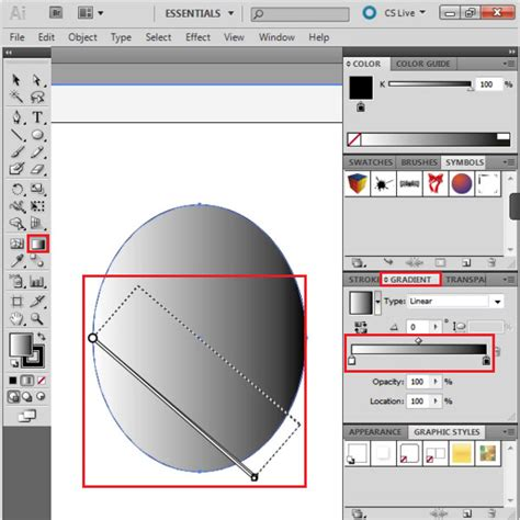 reset gradient tool illustrator how to use the fill and gradient tool in adobe illustrator
