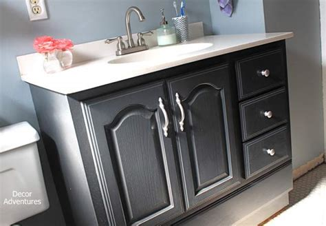 how to paint a bathroom vanity black bathroom vanity makeover 187 decor adventures