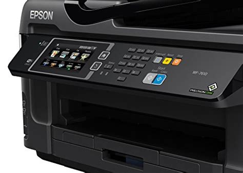 Printer Epson Scan Fotocopy epson workforce wf 7610 wireless color all in one inkjet printer with scanner and copier buy