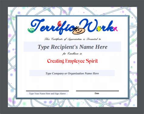 employee appreciation certificate templates sle certificate of appreciation temaplate 24
