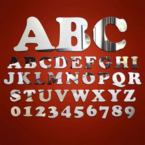 black mirror font alphabet letter number 20cm mirrors cooper black