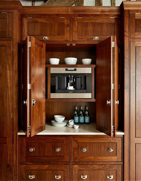 Kitchen Cabinets For Garage by Kitchen Appliance Garage With Built In Coffee Machine